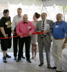 Pictured above left to right are: Frost Street resident, Alex Brygider; CEO, Dunn Development, Martin Dunn; Frost St. resident, Angel Pagan; CFS Board Member, Carol Dillon; CFS Executive Director, Steve Vernikoff; and CFS Chairman of the Board, Lloyd Stabiner.
