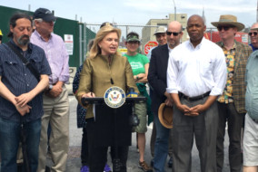 Rep. Carolyn Maloney led a demonstration to seize the site.