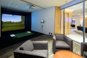 The golf simulator, at 400 PAS allows players to tweak their swings without having to book time at the golf course.