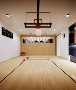 The space that the basketball court at 221 West 77th occupies can also be used for tennis, yoga and dance