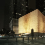 The design for the planned Ronald O. Perelman Performing Arts Center at the World Trade Center