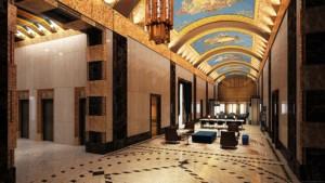 The landmarked lobby