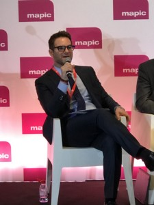 RKF's Joshua Straussmoderating the panel addressing retail and tourism at MAPIC.