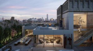 Rendering of the penthouse