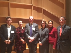 David Dishy, L+M Development Partners, Jessica Walker, Manhattan Chamber of Commerce, James Nelson, Jessica Lappin, The Downtown Alliance, Angela Pinsky, Association for a Better New York, and Seth Pinsky, RXR.