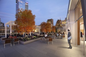 The building will have a rooftop terrace