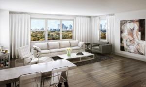 Lane Towers Living Room Rendering