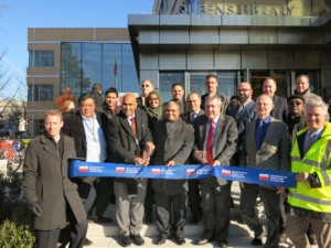Local officials and contractors gathered to open the building officially