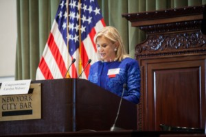 Congresswoman Carolyn Maloney was the keynote speaker at the 2016 Real Estate Weekly Women's Forum