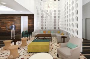 Hilton lobby lounge