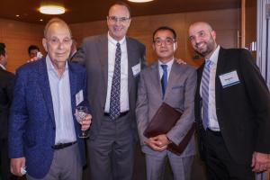 "Martin Newman, Ronald Kremnitzer (Partner, Co-Head of Pryor Cashman's Real Estate Practice), Sei Hoon ""Lenny"" Chu (CEO, Lenwhich), and Benjamin Teig (Partner, Pryor Cashman)"