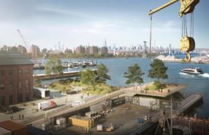 Brooklyn Navy Yard Waterfront Overlook