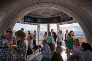 """JLL's private """"Meet the High Rollers"""" event in the High Roller, the world's largest observation wheel"""